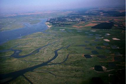 Baie de Somme vue aérienne