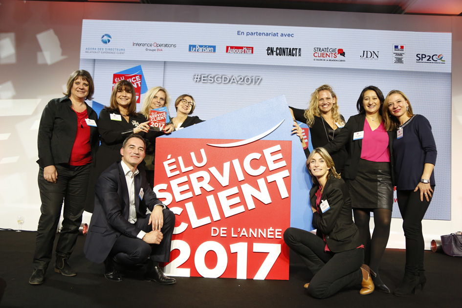 Remise des prix Elu Service Client de l'année 2017